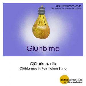 Glühbirne - Wortschatz Deutsch Bilder