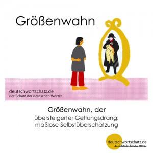 Größenwahn - Wortschatz Deutsch Bilder