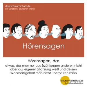 Hörensagen - Wortschatz Deutsch Bilder