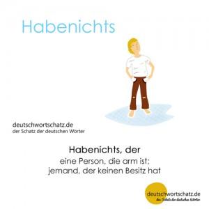 Habenichts - Wortschatz Deutsch Bilder