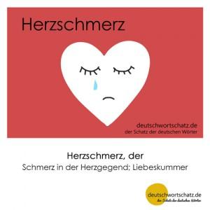 Herzschmerz - Wortschatz Deutsch Bilder