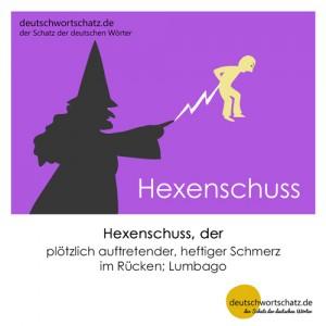 Hexenschuss - Wortschatz Deutsch Bilder
