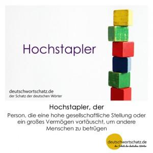Hochstapler - Wortschatz Deutsch Bilder