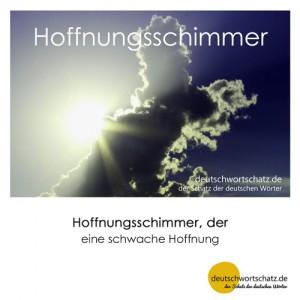 Hoffnungsschimmer - Wortschatz Deutsch Bilder