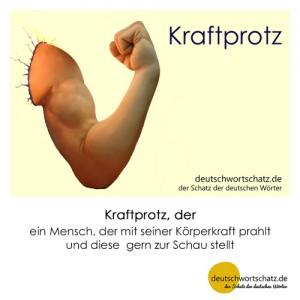 Kraftprotz - Wortschatz Deutsch Bilder