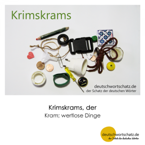 Krimskrams - Wortschatz Deutsch Bilder