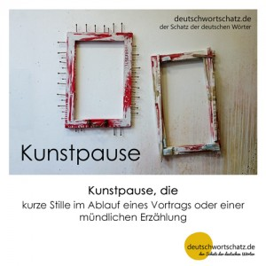 Kunstpause - Wortschatz Deutsch Bilder