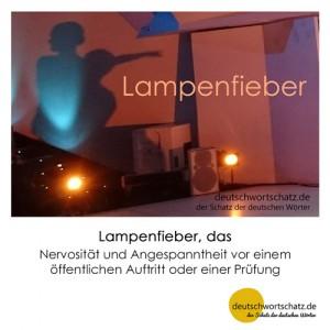 Lampenfieber - Wortschatz Deutsch Bilder