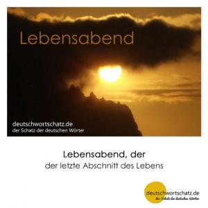 Lebensabend - Wortschatz Deutsch Bilder