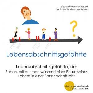 Lebensabschnittsgefährte - Wortschatz Deutsch Bilder