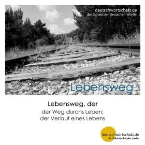 Lebensweg - Wortschatz Deutsch Bilder