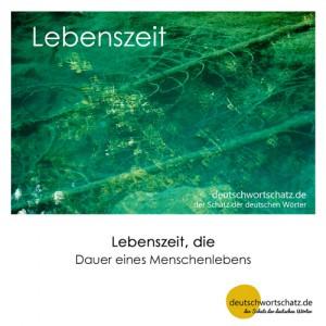 Lebenszeit - Wortschatz Deutsch Bilder