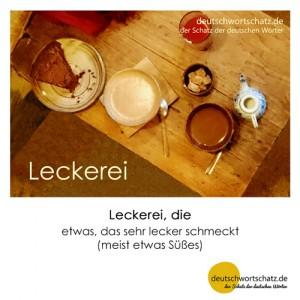 Leckerei - Wortschatz Deutsch Bilder