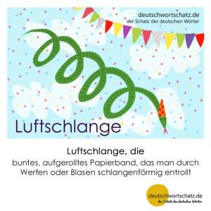 Luftschlange - Wortschatz Deutsch Bilder