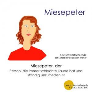 Miesepeter - Wortschatz Deutsch Bilder
