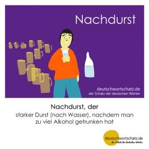 Nachdurst - Wortschatz Deutsch Bilder
