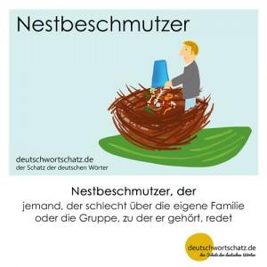 Nestbeschmutzer - Wortschatz Deutsch Bilder
