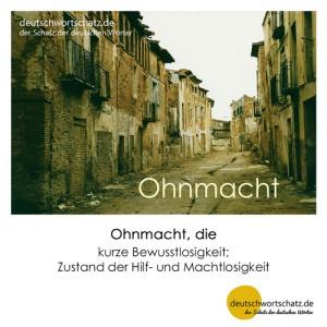 Ohnmacht - Wortschatz Deutsch Bilder