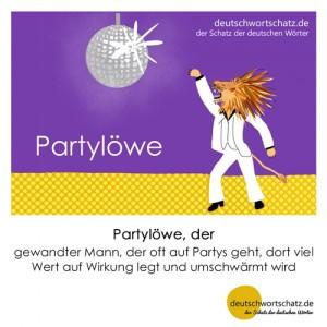 Partylöwe - Wortschatz Deutsch Bilder