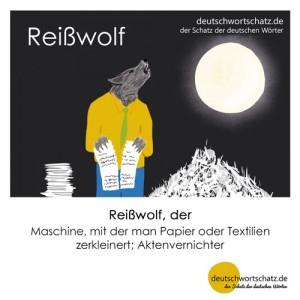 Reißwolf - Wortschatz Deutsch Bilder