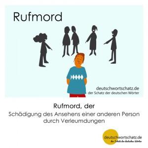 Rufmord - Wortschatz Deutsch Bilder