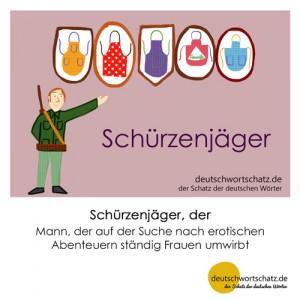 Schürzenjäger - Wortschatz Deutsch Bilder