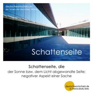 Schattenseite - Wortschatz Deutsch Bilder