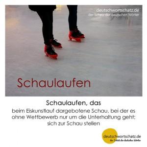 Schaulaufen - Wortschatz Deutsch Bilder