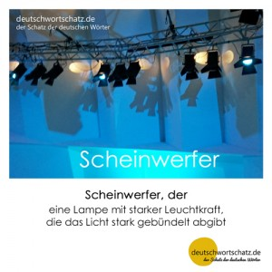 Scheinwerfer - Wortschatz Deutsch Bilder