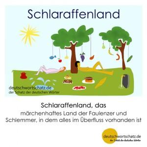 Schlaraffenland - Wortschatz Deutsch Bilder