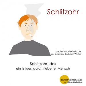 Schlitzohr - Wortschatz Deutsch Bilder