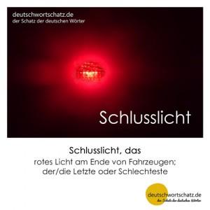 Schlusslicht - Wortschatz Deutsch Bilder