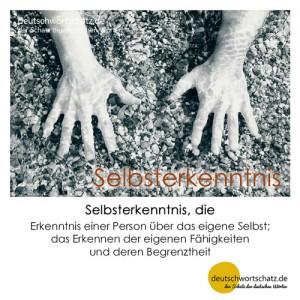 Selbsterkenntnis - Wortschatz Deutsch Bilder