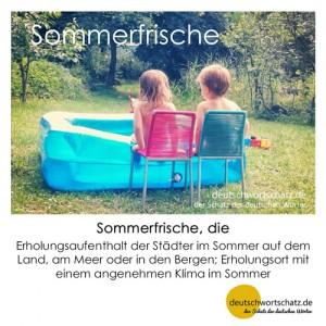 Sommerfrische - Wortschatz Deutsch Bilder