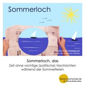 Sommerloch - Wortschatz Deutsch Bilder