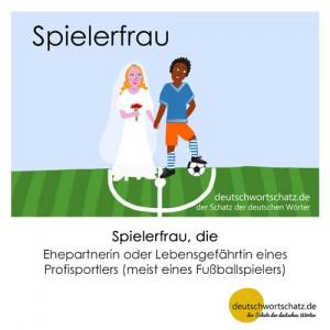 Spielerfrau - Wortschatz Deutsch Bilder