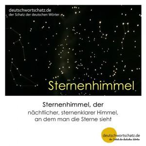 Sternenhimmel - Wortschatz Deutsch Bilder