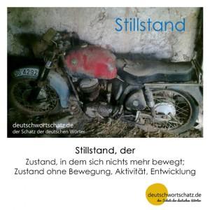 Stillstand - Wortschatz Deutsch Bilder