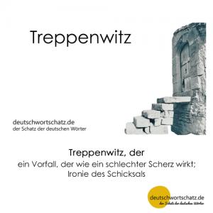 Treppenwitz - Wortschatz Deutsch Bilder