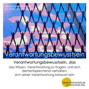 Verantwortungsbewusstsein - Wortschatz Deutsch Bilder
