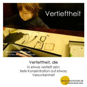 Vertieftheit - Wortschatz Deutsch Bilder