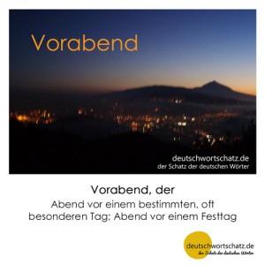 Vorabend - Wortschatz Deutsch Bilder