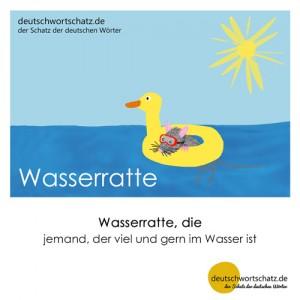 Wasserratte - Wortschatz Deutsch Bilder