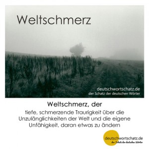 Weltschmerz - Wortschatz Deutsch Bilder