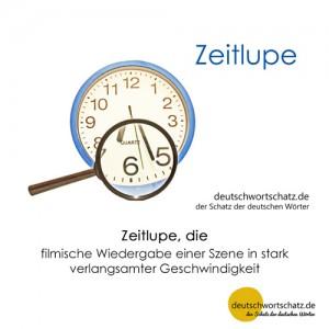 Zeitlupe - Wortschatz Deutsch Bilder
