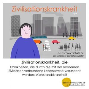 Zivilisationskrankheit - Wortschatz Deutsch Bilder