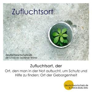 Zufluchtsort - Wortschatz Deutsch Bilder