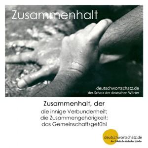 Zusammenhalt - Wortschatz Deutsch Bilder
