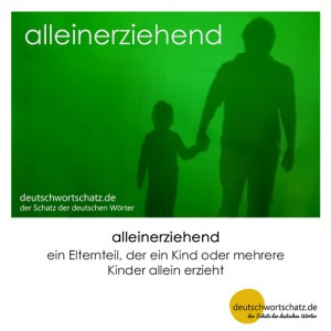 alleinerziehend - Wortschatz Deutsch Bilder