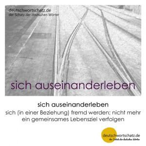sich auseinanderleben - Wortschatz Deutsch Bilder
